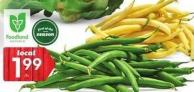 Product Of Ontario Green or Yellow Beans 4.39/kg