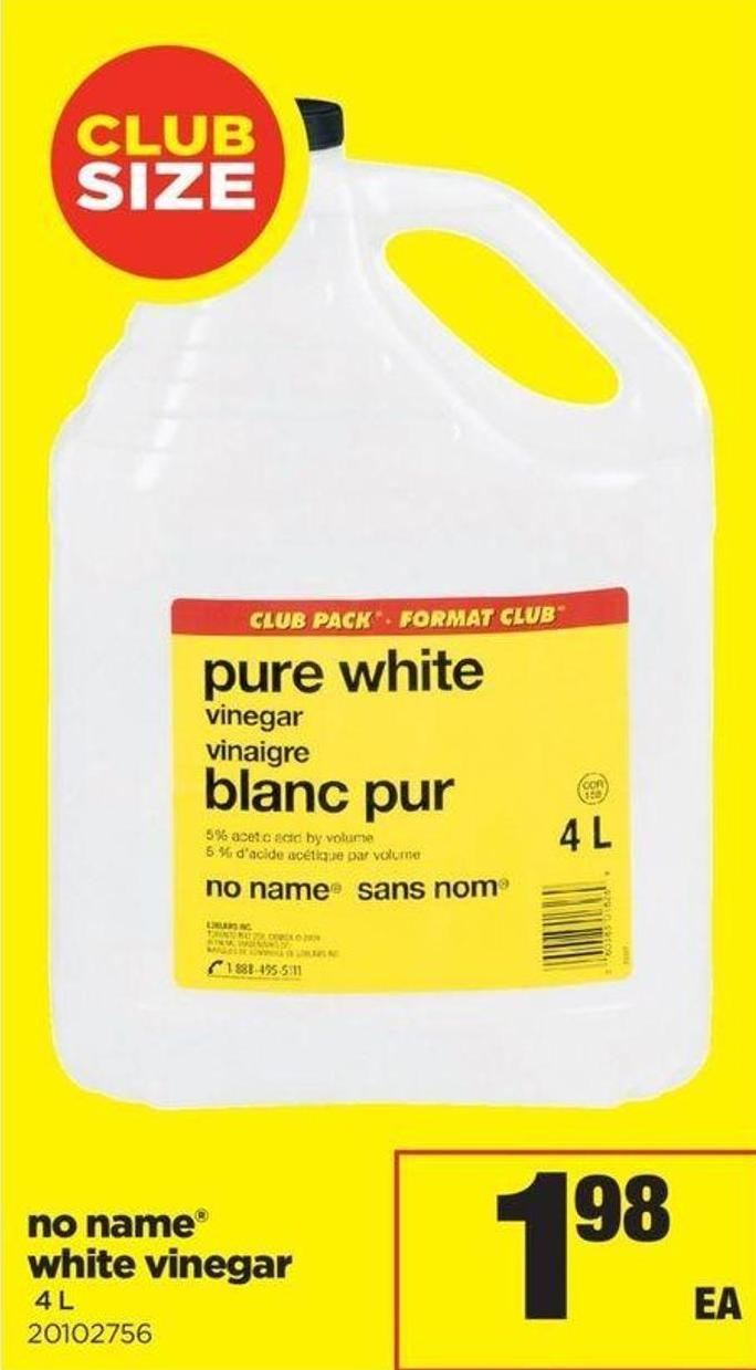 No Name White Vinegar - 4 L