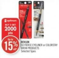 Revlon So Fierce Eyeliner or Colorstay Brow Products