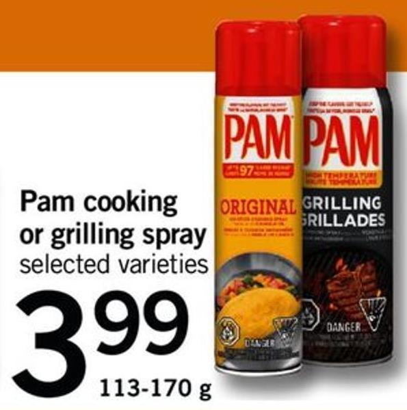 Pam Cooking Or Grilling Spray - 113-170 G