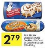 Pillsbury Chocolate Chip Cookies - Pie Crust or Selected Dough 318-468 g