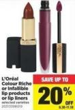 L'oréal Colour Riche Or Infallible Lip Products Or Lip Liners