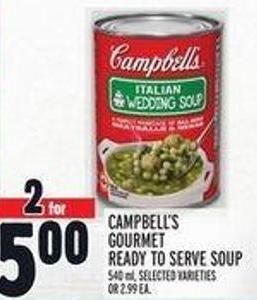 Campbell's Gourmet Ready To Serve Soup