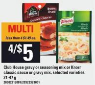 Club House Gravy Or Seasoning Mix Or Knorr Classic Sauce Or Gravy Mix - 21-47 g