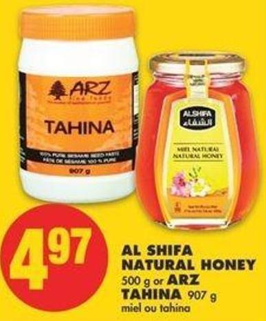 Al Shifa Natural Honey - 500 G Or Arz Tahina - 907 G