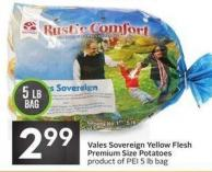 Vales Sovereign Yellow Flesh Premium Size Potatoes