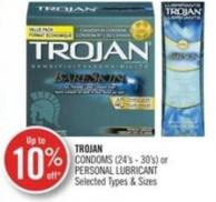 Trojan Condoms (24's - 30's) or Personal Lubricant
