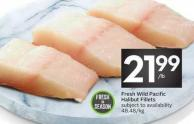 Fresh Wild Pacific Halibut Fillets