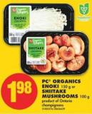 PC Organics Enoki - 150 g or Shiitake Mushrooms - 100 g
