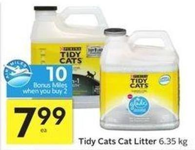 Tidy Cats Cat Litter - 10 Air Miles Bonus Miles