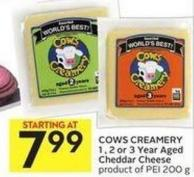 Cows Creamery 1 - 2 - or 3 Year Aged Cheddar Cheese