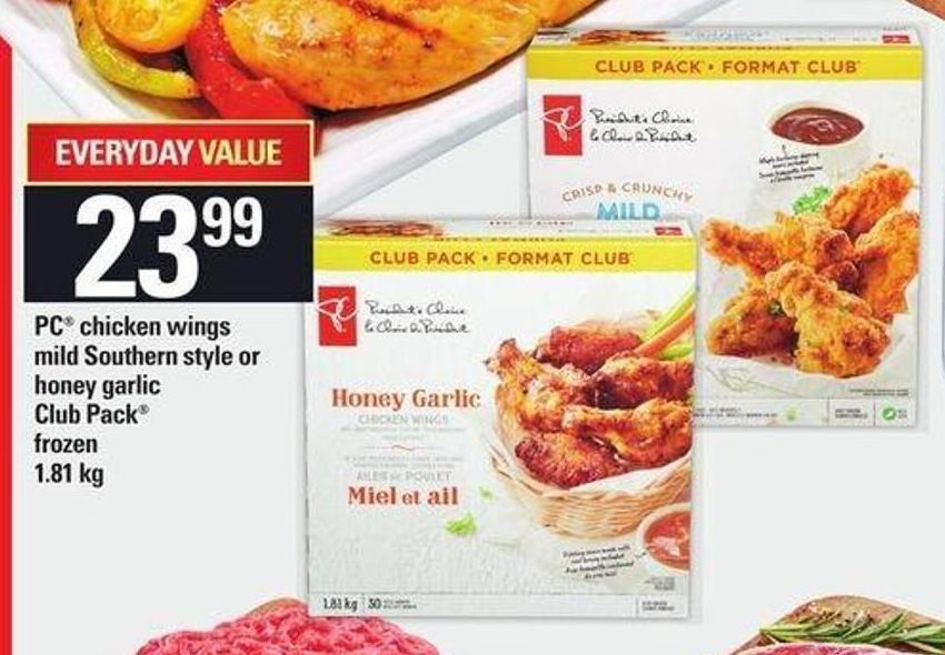 PC Chicken Wings Mild Southern Style Or Honey Garlic - 1.81 Kg