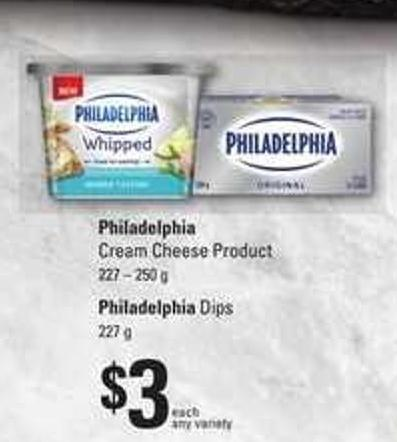 Philadelphia Cream Cheese Product - 227 – 250 G Philadelphia Dips - 227 G