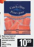 High Liner Catch Of The Day Fish Fillets - 580 G-1.32 Kg