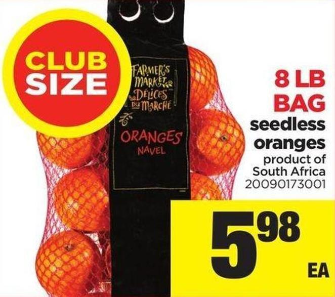 Seedless Orange - 8 Lb Bag