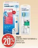 Philips Sonicare Power Toothbrush or Refills (2's)
