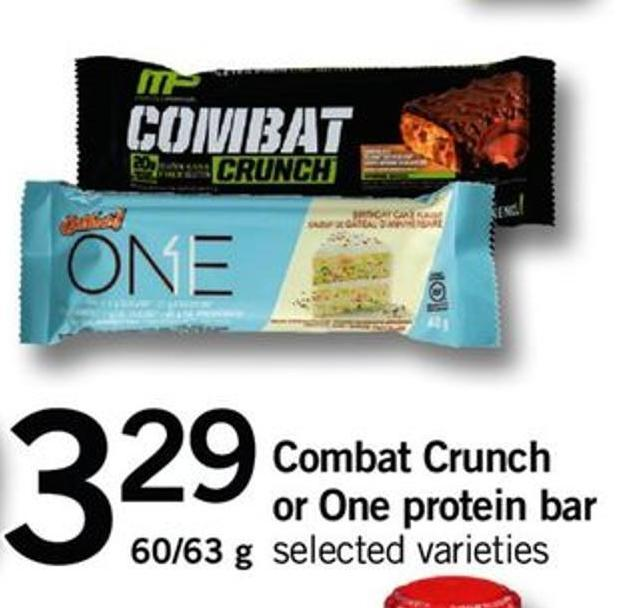 Combat Crunch Or One Protein Bar - 60/63 G