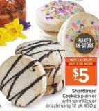 Shortbread Cookies Plain or With Sprinkles or Drizzle Icing 12 Pk 450 g