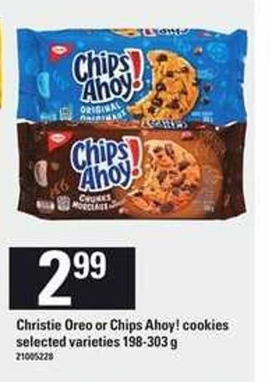 Christie Oreo Or Chips Ahoy! Cookies 198-303 g
