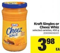 Kraft Singles Or Cheez Whiz - 450 G
