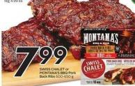 Swiss Chalet or Montana's Bbq Pork Back Ribs