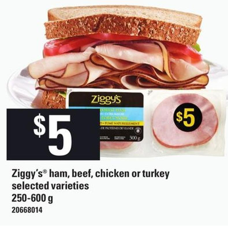 Ziggy's Ham - Beef - Chicken Or Turkey - 250-600 g