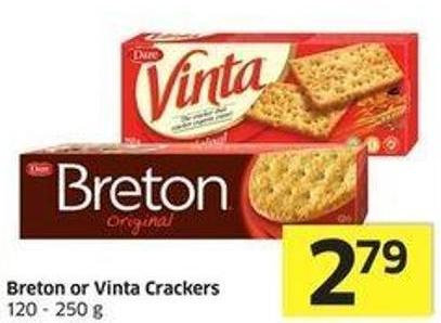 Dare Breton or Vinta Crackers 120 - 250 g