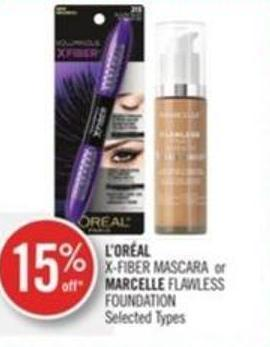L'oréal  X-fiber Mascara or Marcelle Flawless Foundation