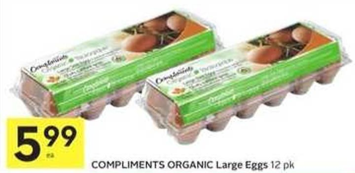 Compliments Organic Large Eggs