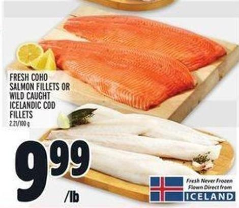 Caught Icelandic Cod Fillets