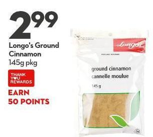 Longo's Ground  Cinnamon 145g Pkg