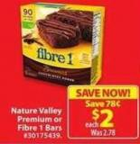 Nature Valley Premium or Fibre 1 Bars