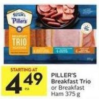 Piller's Breakfast Trio or Breakfast Ham 375 g