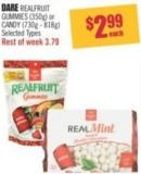 Dare Realfruit Gummies (350g) or Candy (730g - 818g)