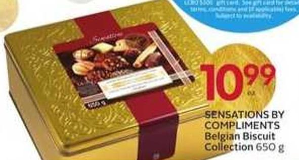 Sensations By Compliments Belgian Biscuit Collection - 30 Air Miles Bonus Miles