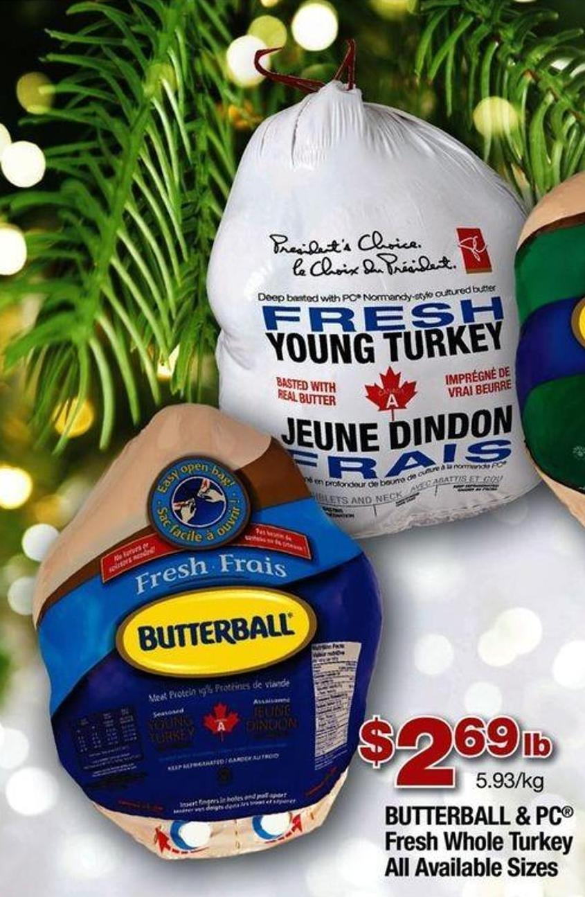 Butterball & PC Fresh Whole Turkey