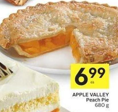 Apple Valley Peach Pie