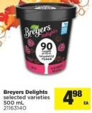 Breyers Delights - 500 mL