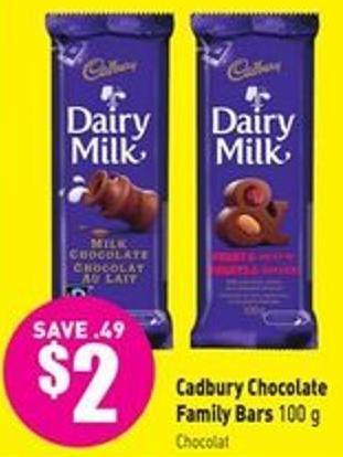 Cadbury Chocolate Family Bars 100 g