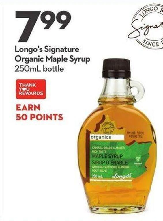 Longo's Signature Organic Maple Syrup