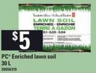 PC Enriched Lawn Soil - 30 L