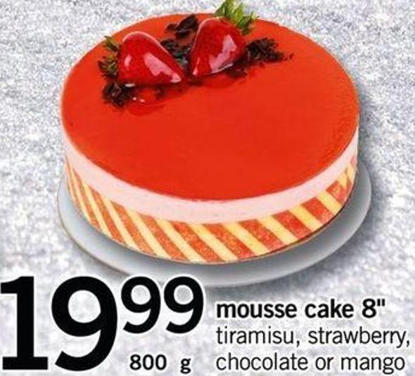 Mousse Cake 8in - 800 G