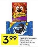 Christie Cookies 379-550 g or Dare Bear Paws 337-480 g