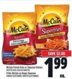 Mccain French Fries Or Swanson Entrées