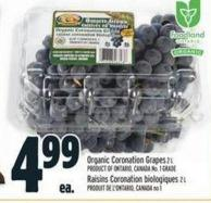 Organic Coronation Grapes 2 L