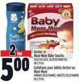 Gerber Or Mum-mum Baby Snacks