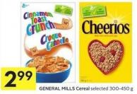 General Mills Cereal Selected 300-450 g