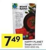 Happy Planet Soups Selected 500-650 mL