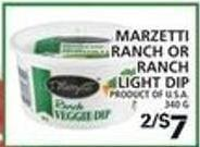 Marzetti Ranch Or Ranch Light Dip