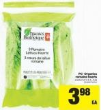 PC Organics Romaine Hearts - 3 Pk
